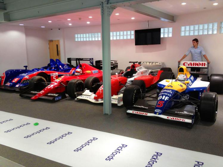 Some of Nigel Mansell's iconic racing cars