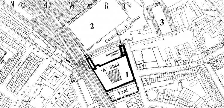 Map of Pickfords site in Camden