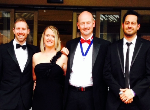 Mark (third from left) with (l-r) Nick Wilkinson, Nicki Brotherston and Andy Chatt at the BAR Conference