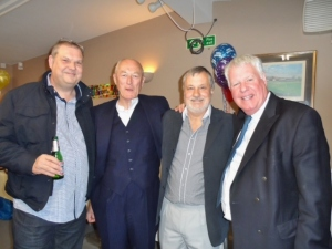 L-R Brian Fryer Group Mgr, Terry Gale retired Fulham Mgr, Paul, Pat Hawkins Retired Mgr Bromley - Copy